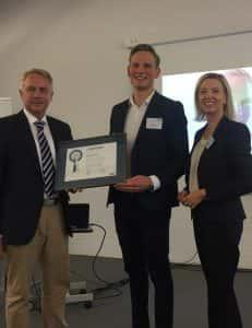 2017 - Auszeichnung mit dem Kompass 2017 Kurs Erfolg: Hauke Alhorn, VIEROL